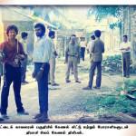 Lieutenant Colonel Thileepan with LTTE members in Jaffna.