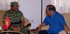 Mr.-Pirapaharan-meets-Mr.-Anton-Balasingham-in-Vanni